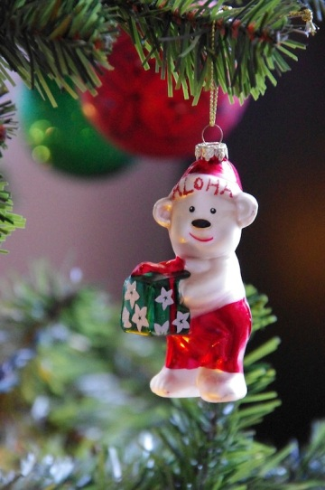 Aloha Bear Ornament