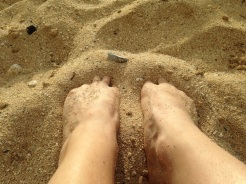I still got sand between my toes...